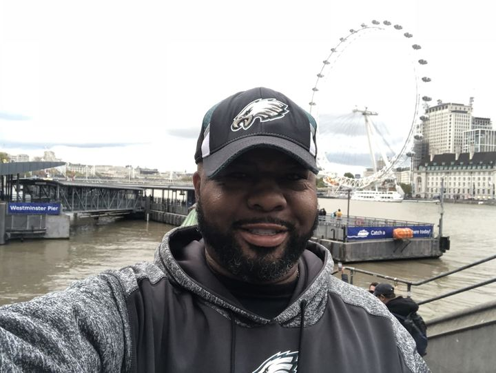 Koroun Butler in London, England, for the Philadelphia Eagles game against the Jacksonville Jaguars at Wembley Stadium.