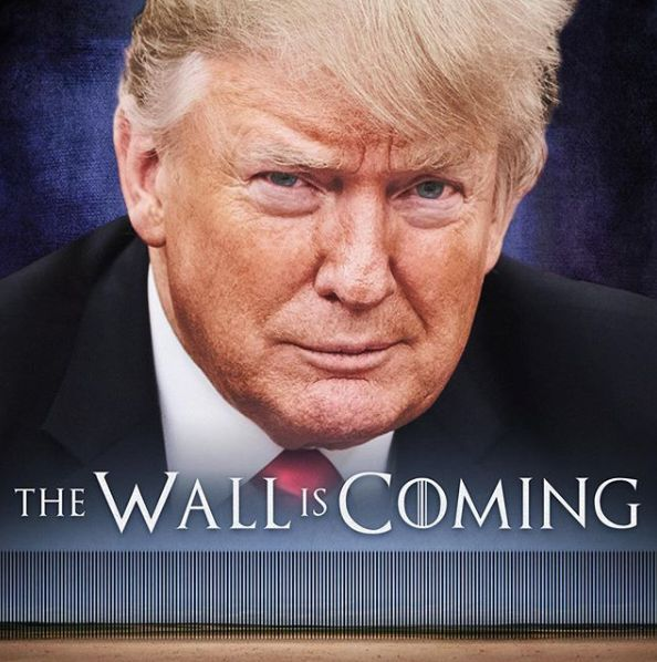 Donald Trump The Wall Is Coming Meme