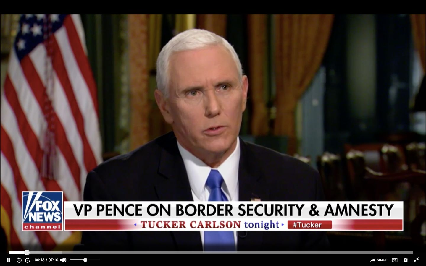 Mike Pence on Tucker Carlson