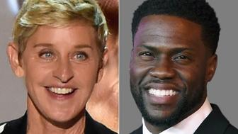 Ellen and Kevin Hart