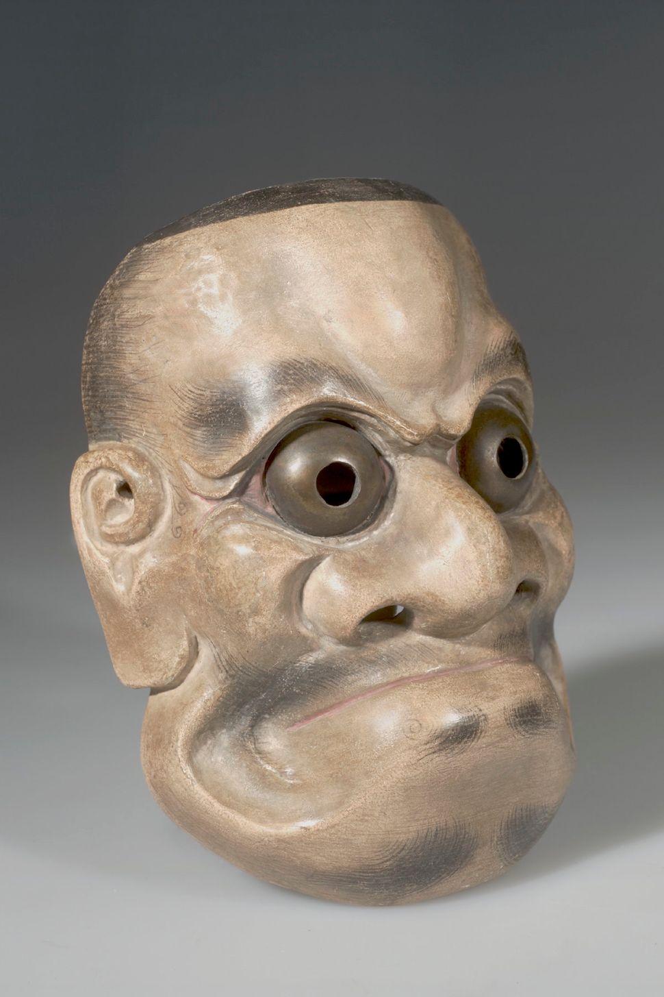 Noh Drama Mask, Beshimi (Tight Lip), American Museum of Natural History