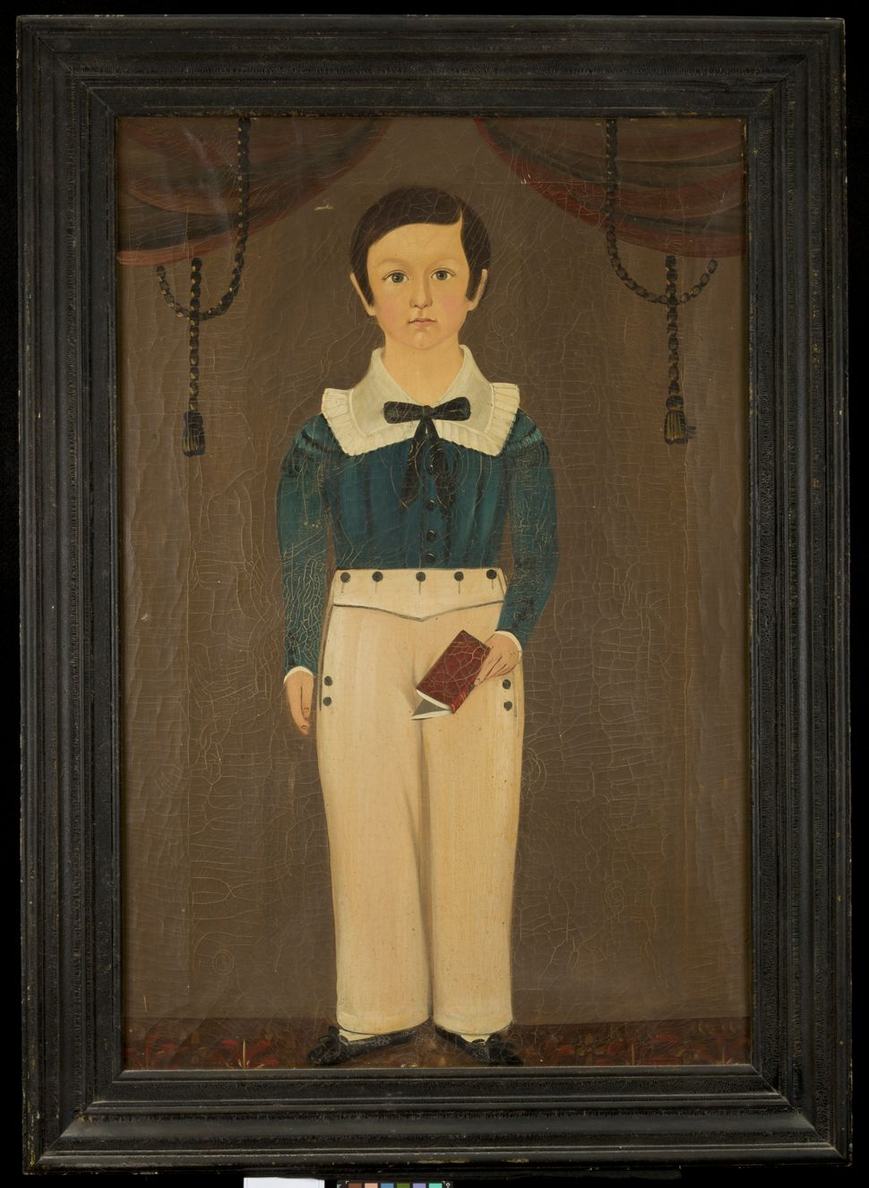 Standing Boy with Book, about 1845 attributed to Sturtevant J. Hamblen Image: Courtesy of the Worcester Art Museum