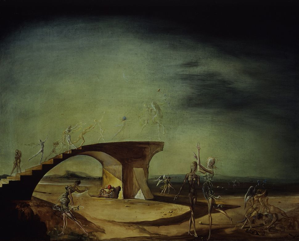Salvador Dalí The Broken Bridge and the Dream (1945) © Salvador Dalí. Fundació Gala-Salvador Dali, [Artist Rights Society (AR