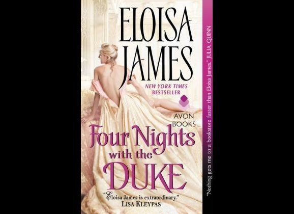 "<a href=""http://amzn.to/1E2McW9"" target=""_hplink"">Four Nights with the Duke</a> is a romance novel about a romance writer and"