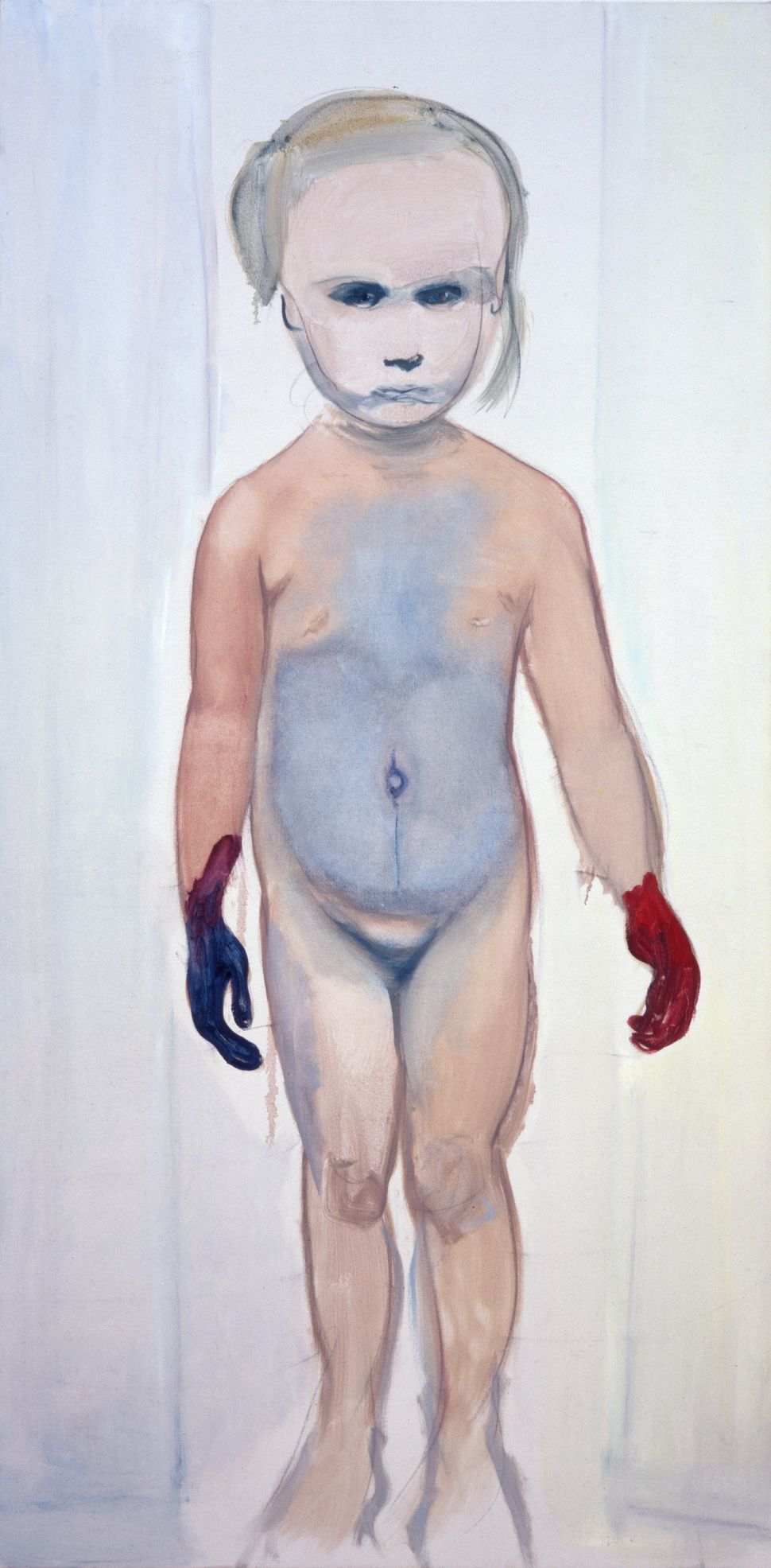 Marlene Dumas  The Painter, 1994  Oil on canvas, 200 x 100 cm  The Museum of Modern Art, New York, fractional and promised g
