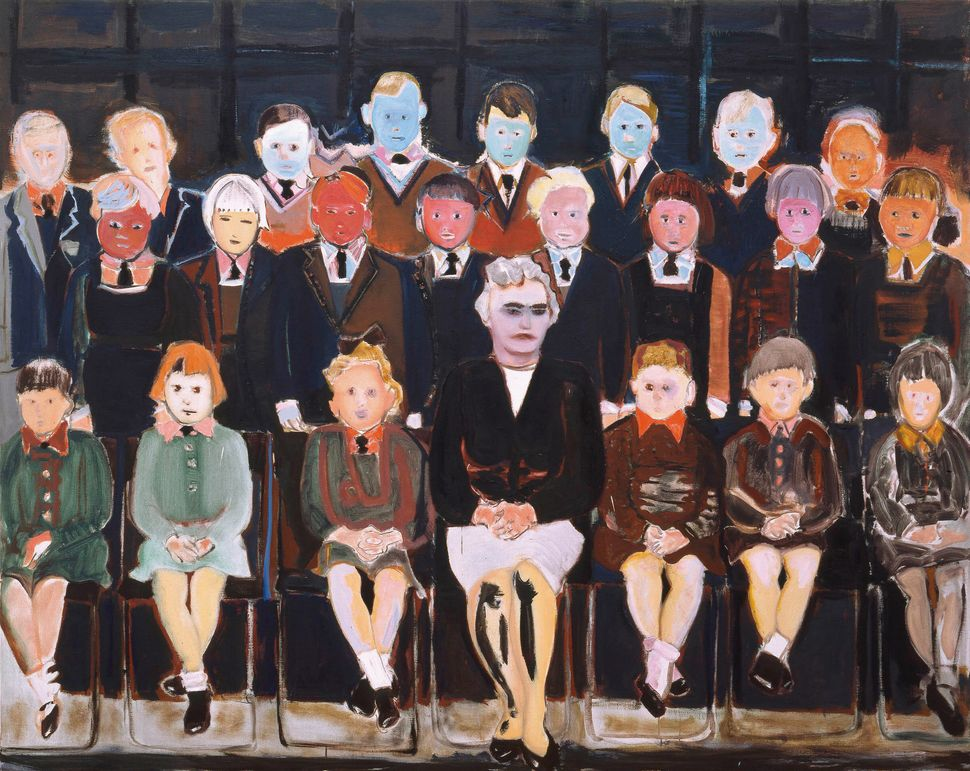 The Teacher (Sub A), 1987  Oil on canvas, 160 x 200 cm  Private collection  © Marlene Dumas  Photograph by Peter Cox, © 2015,