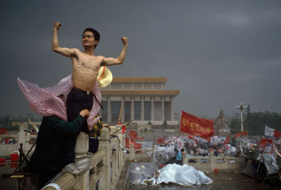 """This is an image that changed everything because, for me, it crystallised the spirit of revolt. The uprising in Tiananmen Sq"
