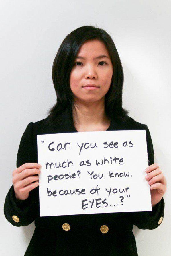 """""""Vedi quanto una persona bianca? Sai, a causa dei tuoi occhi....?"""""""