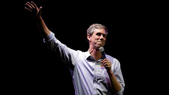 FILE - In this Nov. 6, 2018, file photo, U.S. Rep. Beto O'Rourke, the 2018 Democratic Candidate for U.S. Senate in Texas, makes his concession speech at his election night party in El Paso, Texas. During the Texas Senate race, some Democrats grumbled that O'Rourke wasn't softening his liberal positions enough to finish a near-upset of Ted Cruz. Now, as the one-time punk rocker mulls a 2020 White House run, some activists are suggesting he's not liberal enough. O'Rourke says he rejects party labels, but he may not be able to avoid being confined to an ideological lane forever. (AP Photo/Eric Gay, File)