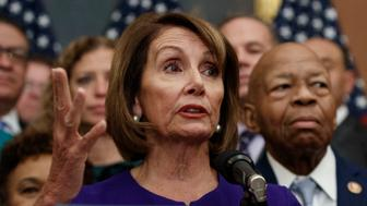 Speaker of the House Nancy Pelosi of Calif., speaks during a news conference on Capitol Hill in Washington, Friday, Jan. 4, 2019, about Introduction of H.R. 1 - For the People Act. (AP Photo/Carolyn Kaster)