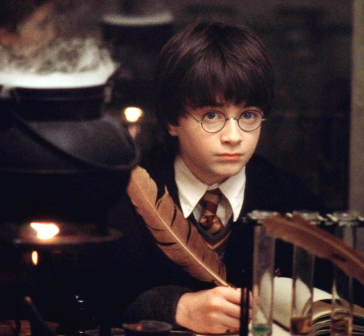 "Actor Daniel Radcliffe as the title character in the Warner Bros. film ""Harry Potter and the Sorcerer's Stone,"" now available"
