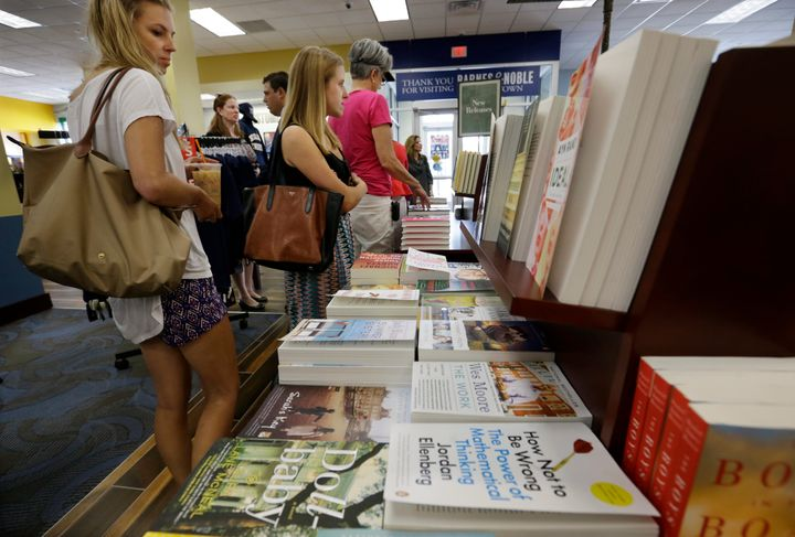 People shop at a newly opened Barnes & Noble College bookstore at The College of New Jersey in Ewing Township in 2015.