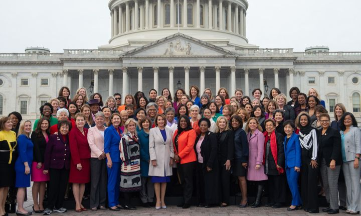 The Democratic women of the House.