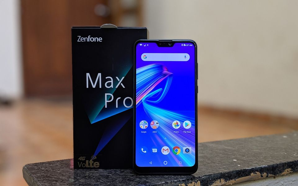 Asus ZenFone Max Pro M2 with box.