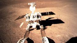 중국의 달 탐사 로봇이 달의 뒷면에 바퀴자국을