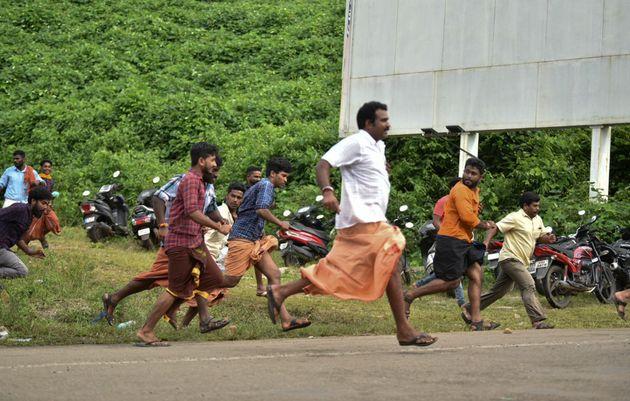 Protest in Kerala over Supreme court verdict on