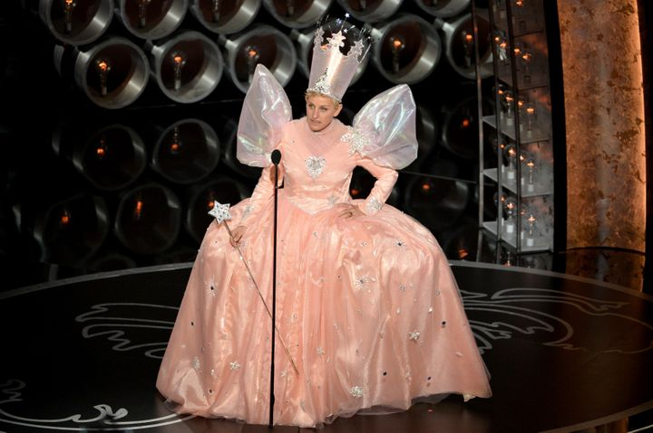 Ellen DeGeneres hosting the Academy Awards on March 2, 2014.