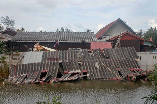 Les dégâts matériels dans le district dePak