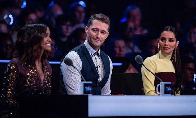 Oti, Matthew and Cheryl of 'The Greatest