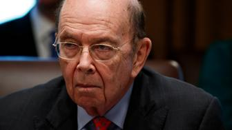 Secretary of Commerce Wilbur Ross listens as President Donald Trump speaks during a cabinet meeting at the White House, Thursday, June 21, 2018, in Washington. (AP Photo/Evan Vucci)