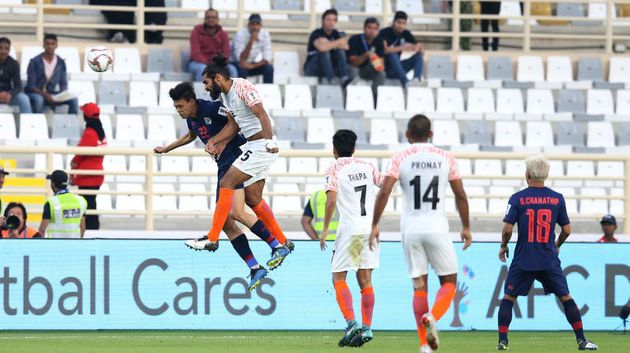 Indian team in action at the AFC Asian Cup