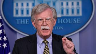 National Security Adviser John Bolton speaks during a briefing at the White House in Washington, Wednesday, Oct. 3, 2018. (AP Photo/Susan Walsh)