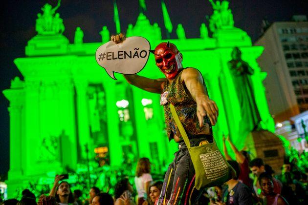Vor Bolsonaros Wahl gab es heftige Proteste gegen den rechtsextremen Kandidaten.