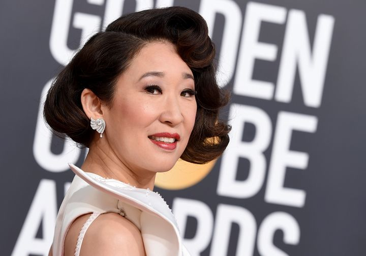 Sandra Oh arrives at the 76th annual Golden Globe Awards at the Beverly Hilton Hotel on Jan. 6, 2019, in Beverly Hills, Calif