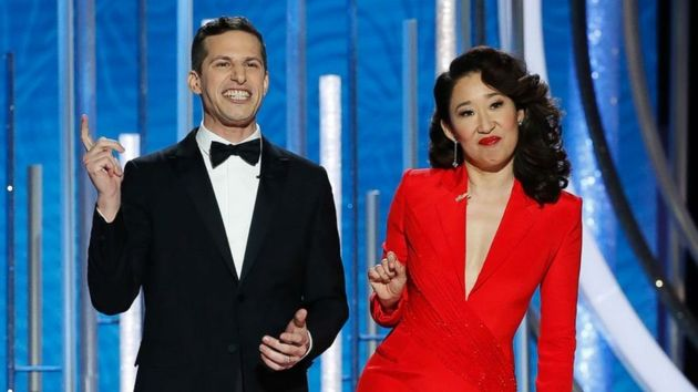 Andy Samberg and Sandra Oh try to shine as co-hosts of the 76th Golden Globes award