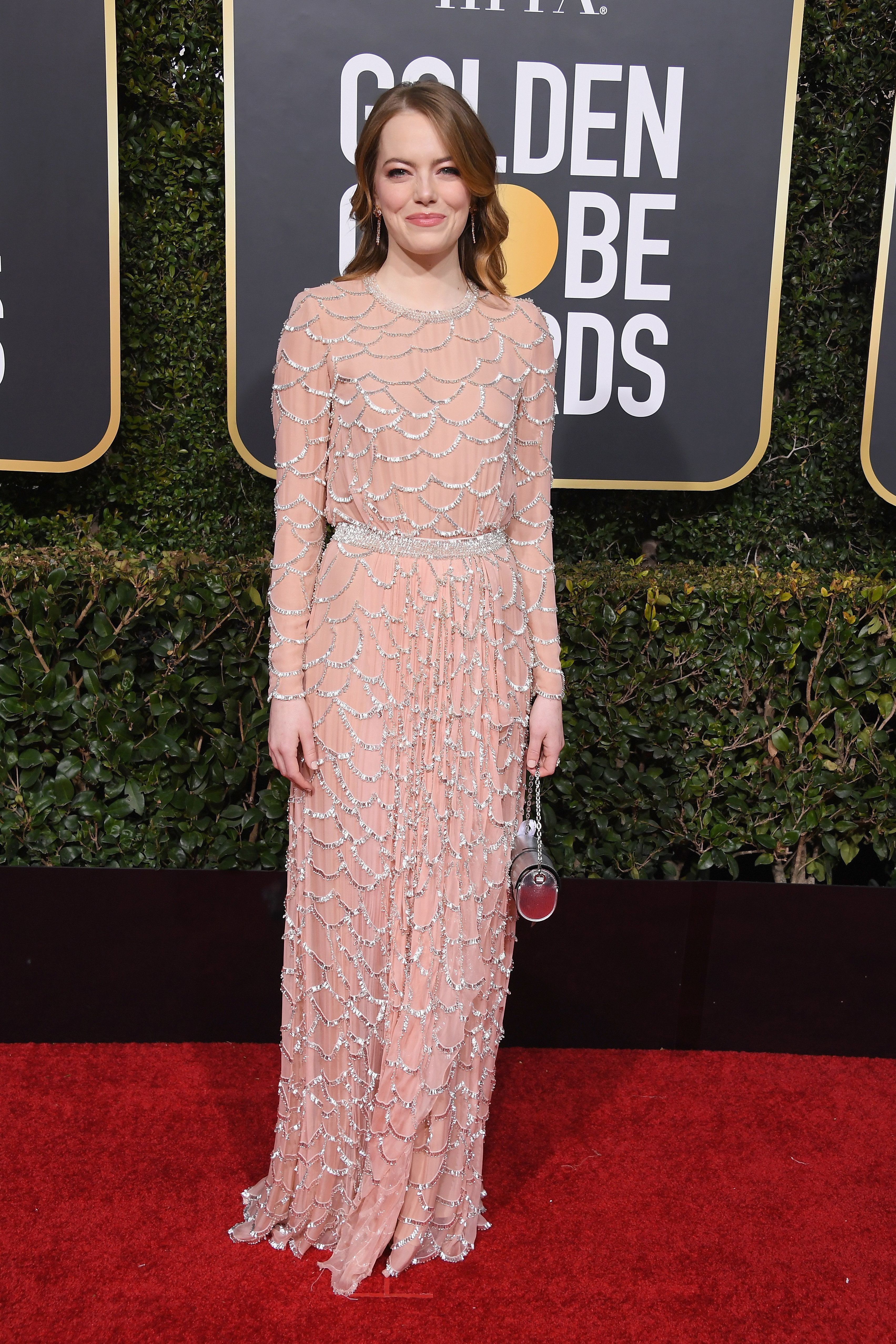 BEVERLY HILLS, CA - JANUARY 06:  Emma Stone attends the 76th Annual Golden Globe Awards at The Beverly Hilton Hotel on January 6, 2019 in Beverly Hills, California.  (Photo by Steve Granitz/WireImage)