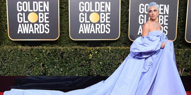 Lady Gaga attends the 76th Annual Golden Globe Awards at The Beverly Hilton Hotel on January 6, 2019...