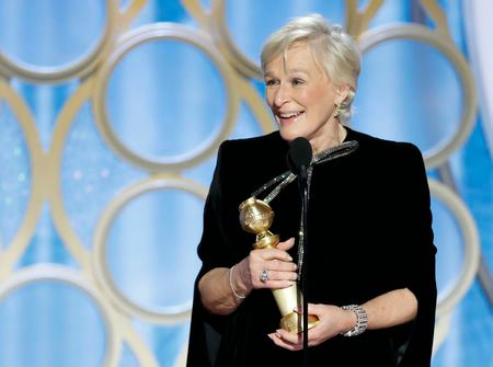 Glenn Close wins Best Performance by an Actress in a Motion Picture - Drama at the Golden