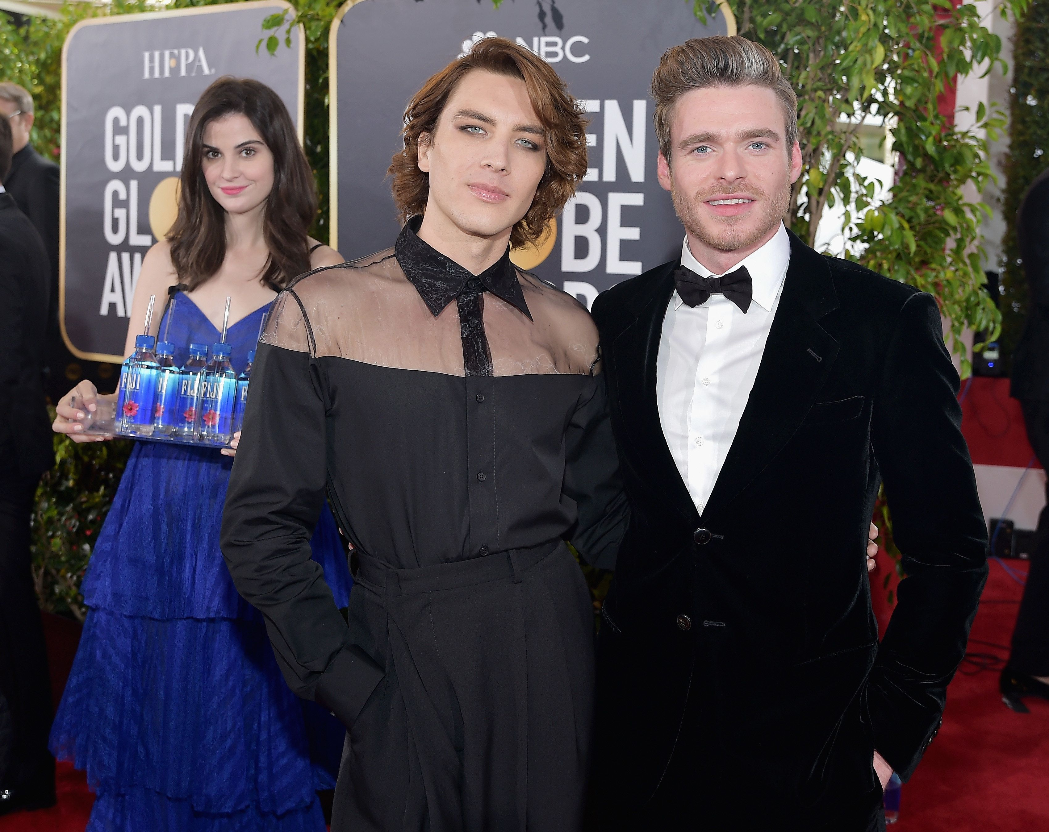 The True Star Of The Golden Globes Red Carpet Was The Fuji Water