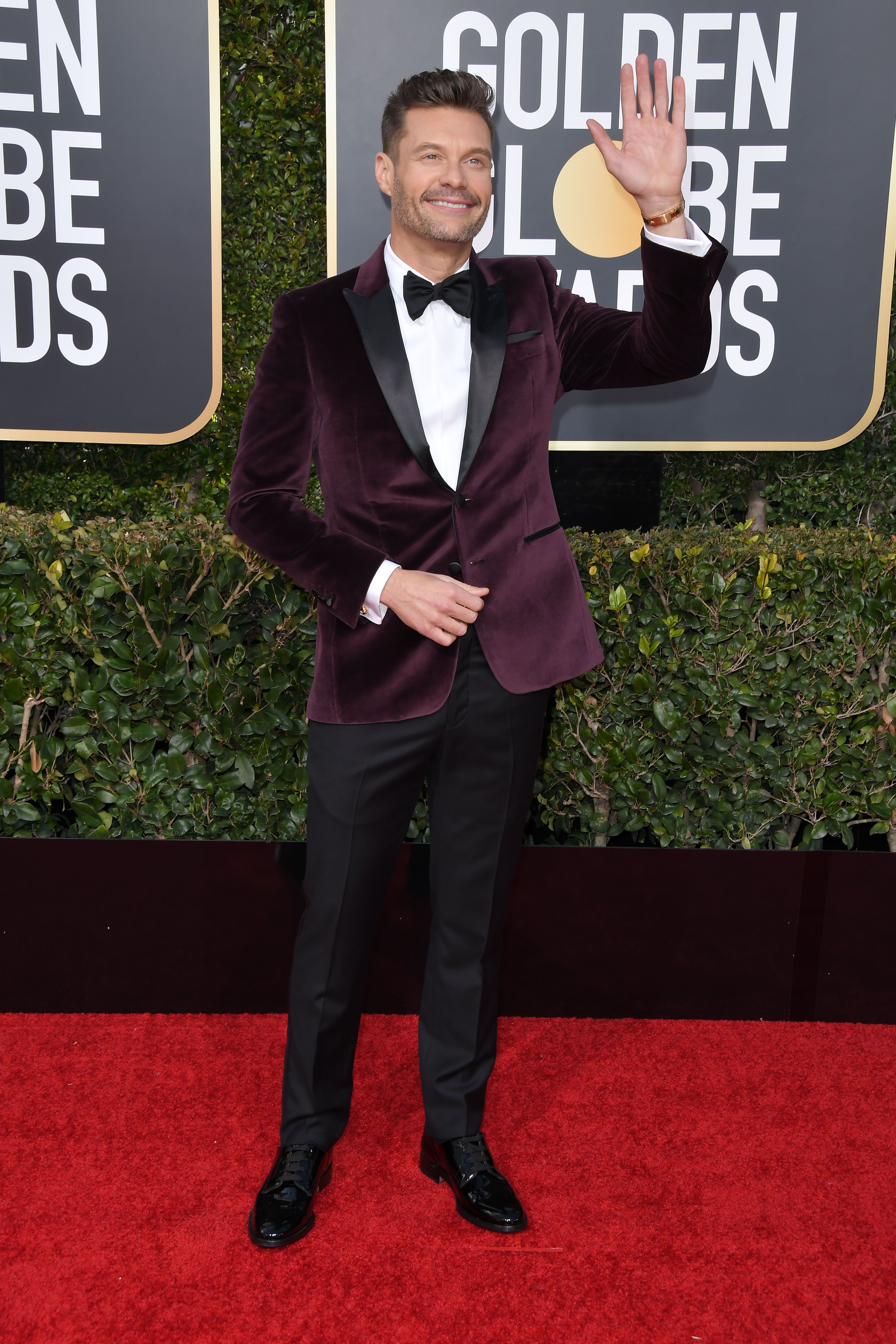 Ryan Seacrest at the 76th Golden Globe Awards during the red carpet arrivals held at the Beverly Hilton on January 6, 2019 in Beverly Hills, CA. (Photo by Sthanlee Mirador/Sipa USA)