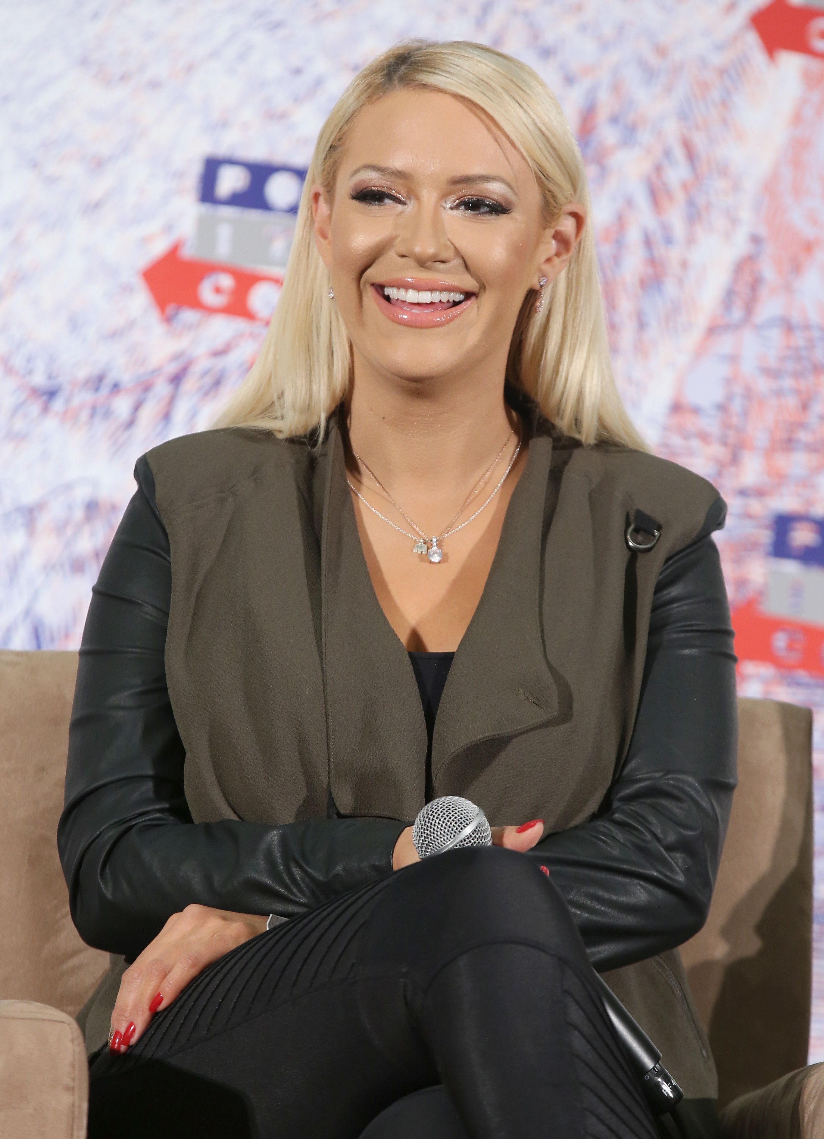 LOS ANGELES, CA - OCTOBER 21:  Kaya Jones speaks onstage during Politicon 2018 at Los Angeles Convention Center on October 21, 2018 in Los Angeles, California.  (Photo by Phillip Faraone/Getty Images for Politicon )