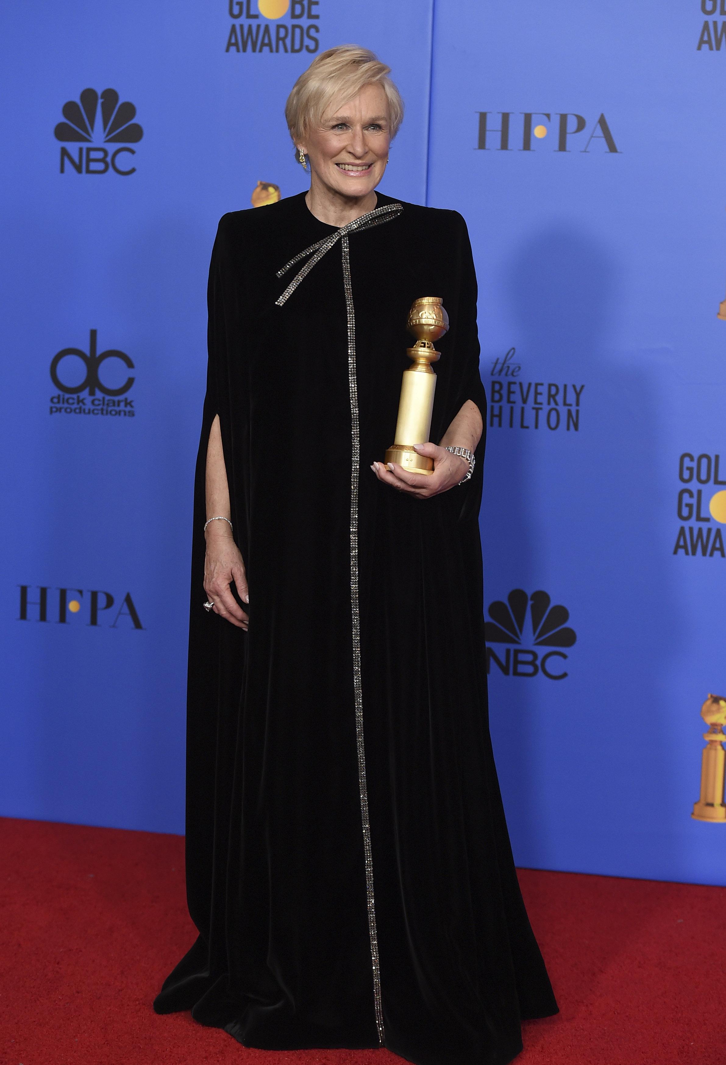 Actor Glenn Close's Empowering Golden Globes