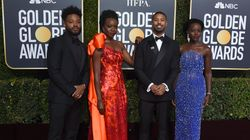 'Black Panther' Cast Slays Red Carpet At Golden