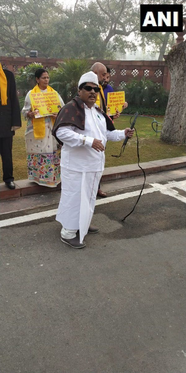 TDP MP Dresses Up As MGR, Plays Tamil Song In Lok