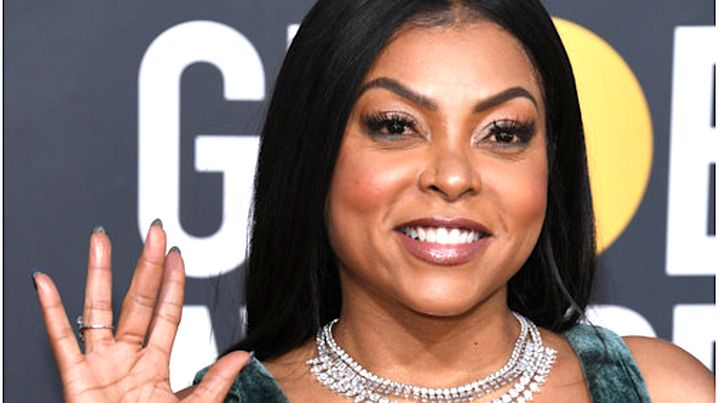 Taraji P. Henson was all smiles on the Golden Globes red carpet Sunday, but had an anxious moment when she discovered her rin