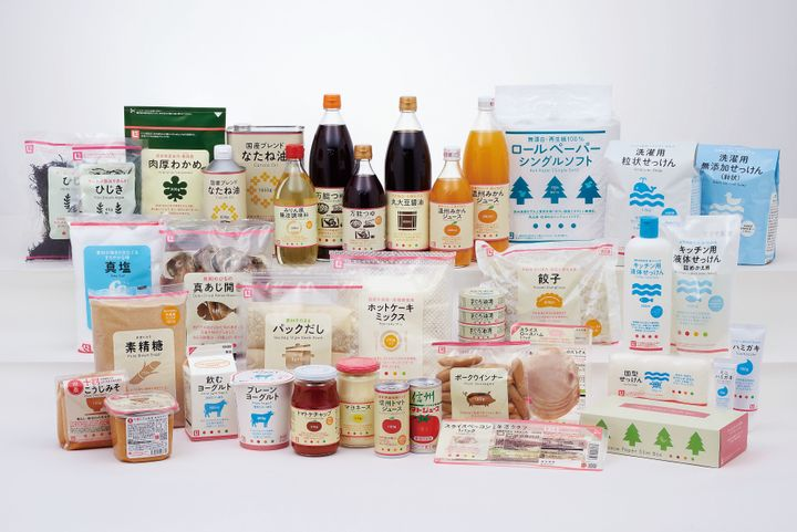 Some of the Seikatsu Club cooperative product range.