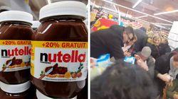 Puxão de cabelo e pancadaria: Promoção de Nutella gera caos na