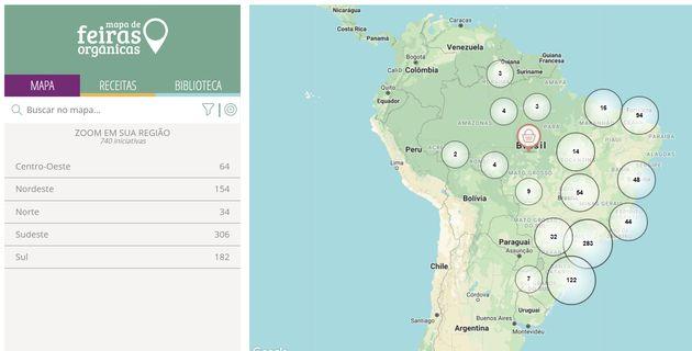 App mapeia feiras orgânicas em todo Brasil e aponta qual está mais perto de