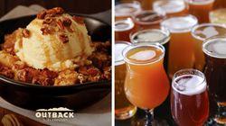 Dia do Consumidor tem sobremesa grátis no Outback e cervejas e vinhos pela metade do