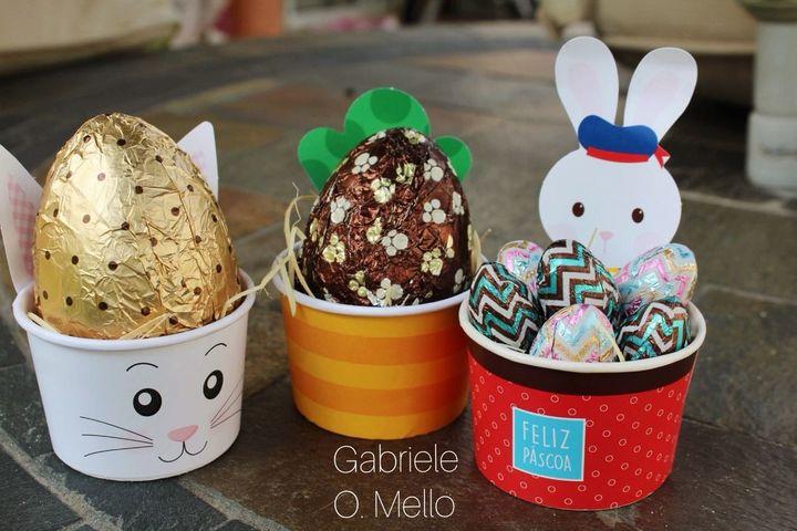 Ovos de Páscoa de Gabriele Melo.