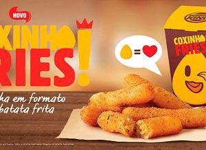 Burger King une paixões brasileiras e lança coxinha em formato de fritas 743659d376