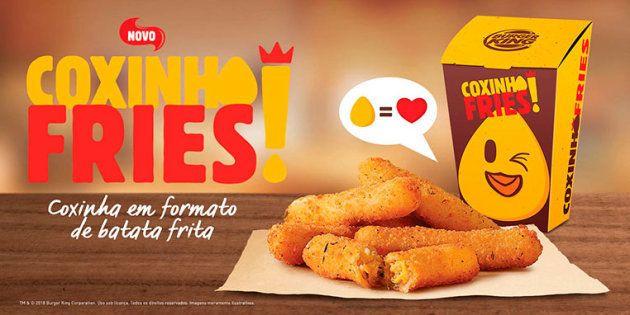 A novidade já está disponível nas lojas do Burger King de todo o Brasil.