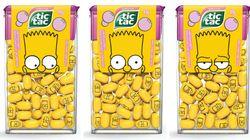 Tic Tac lança edição limitada de 'Os Simpsons' com novo sabor e 'rostinhos' nas