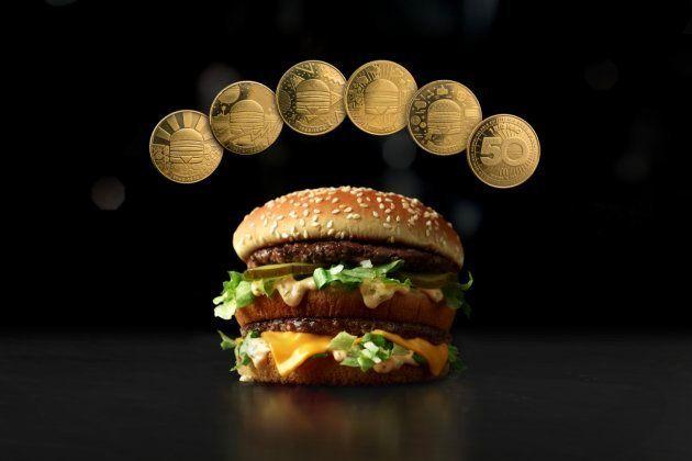 McDonald's lança 5 moedas comemorativas para os 50 anos do Big