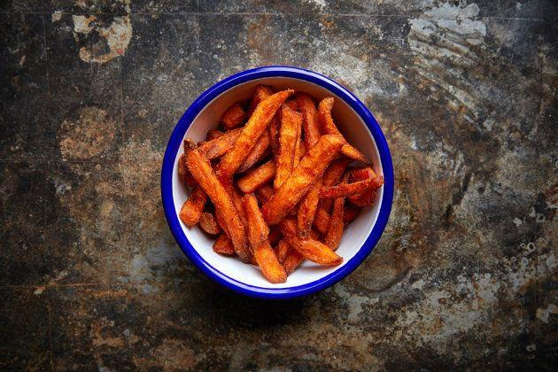 Como fazer uma batata doce frita