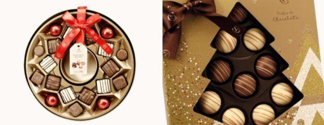 Cacau Show tem seção personalizada de chocolates para o Natal.